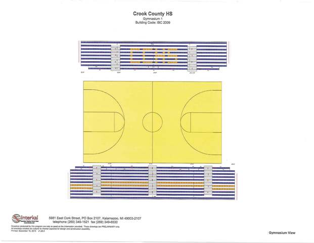621x480 New Bleachers Amp Refinished Floors For High School Gym Crook