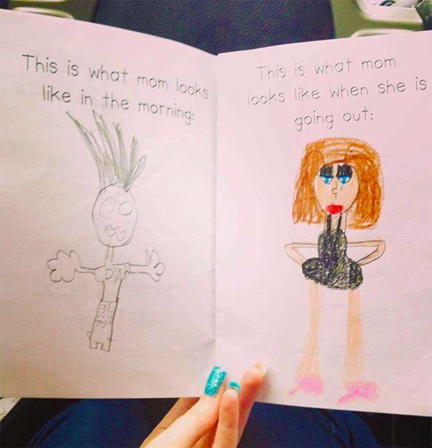 605x628 18 Times Kid Drawings Revealed Too Much About Their Parents
