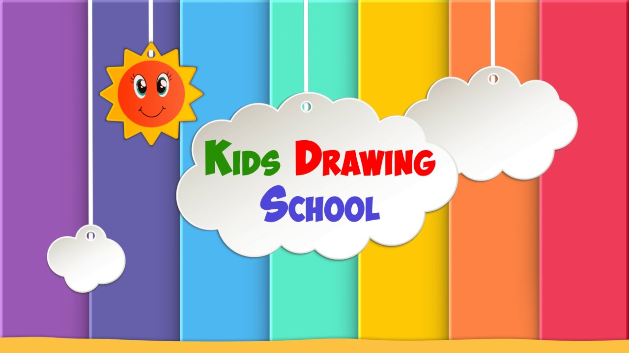 1280x720 Kids Drawing School Youtube Channel Intro Video Kids Drawing
