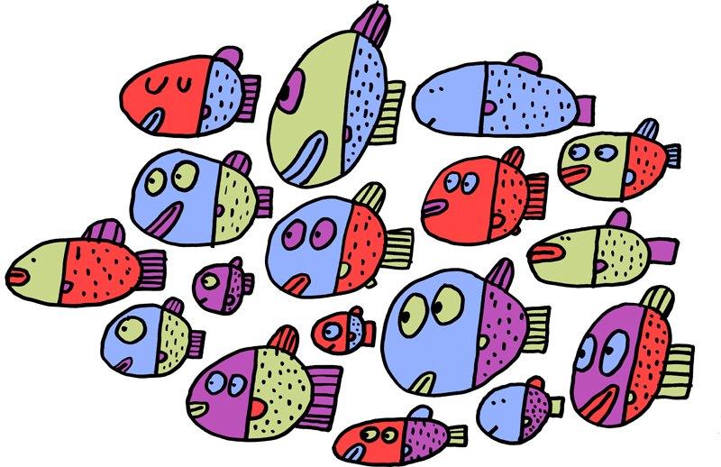 school of fish drawing at getdrawings com free for personal use rh getdrawings com School of Fish Silhouette images of a school of fish clipart