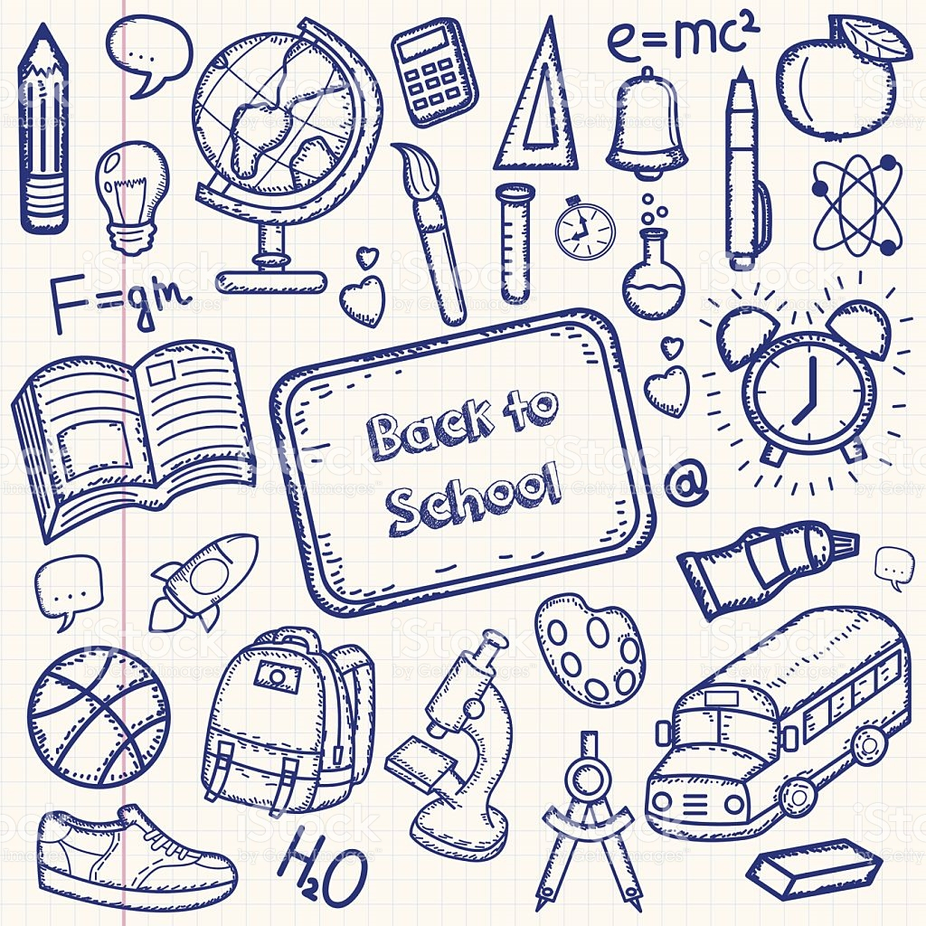 1024x1024 Back To School Drawings How To Draw Back To School Supplies