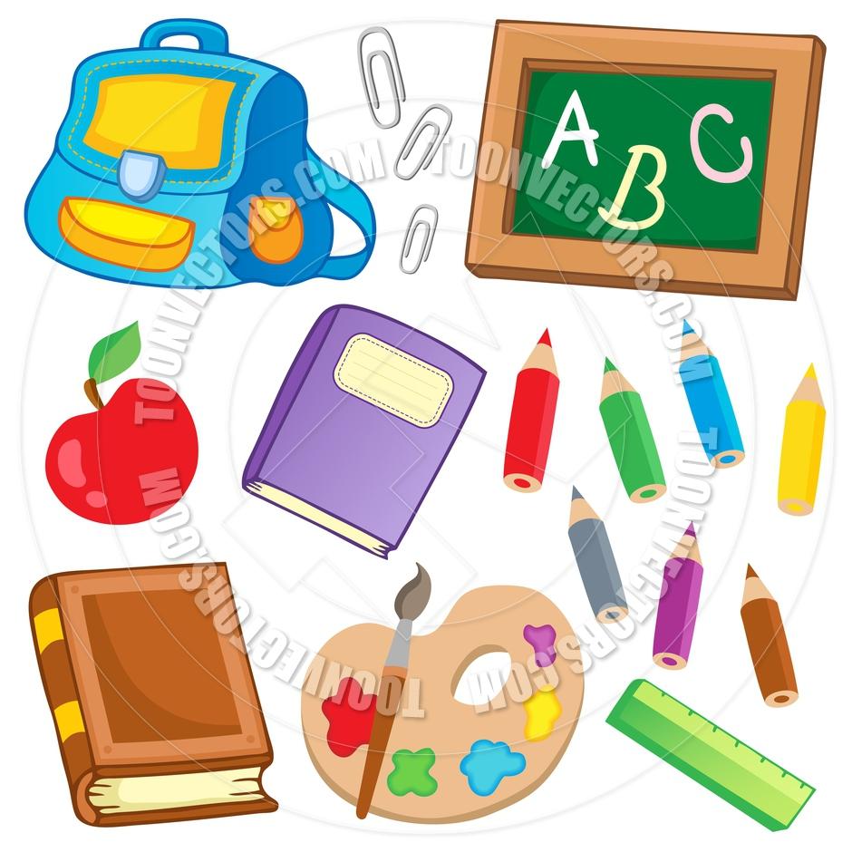940x940 School Supplies Cartoon Drawnings Cartoon School Drawing Supplies