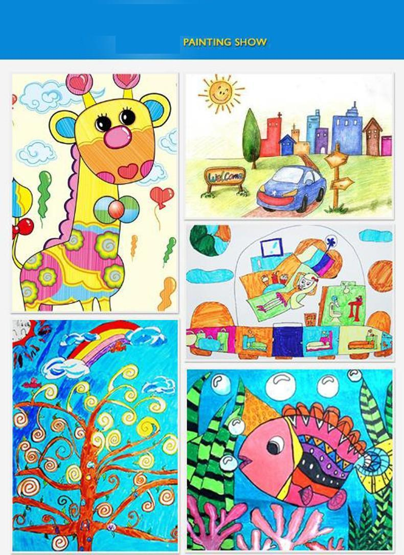 790x1085 Stationery Set Child Crayon Drawing Watercolor Pen Color