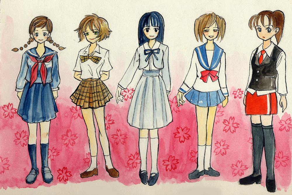 1000x667 Girls In School Uniforms 1 By Hbanana7