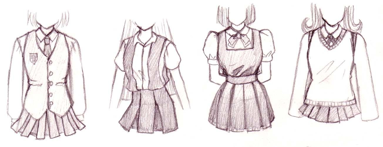 1304x500 How To Draw Anime Outfits Aside From The Common Sailor Uniform