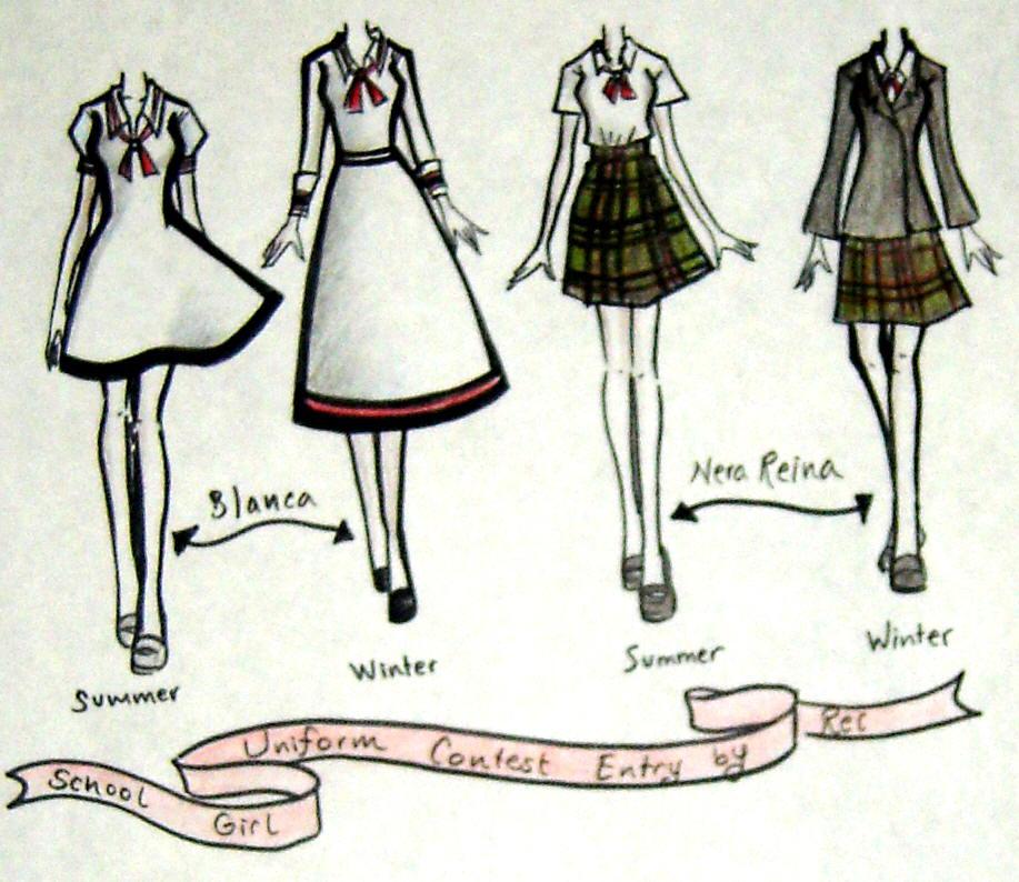 917x794 School Girl Uniforms Entry By ~neongenesisevarei