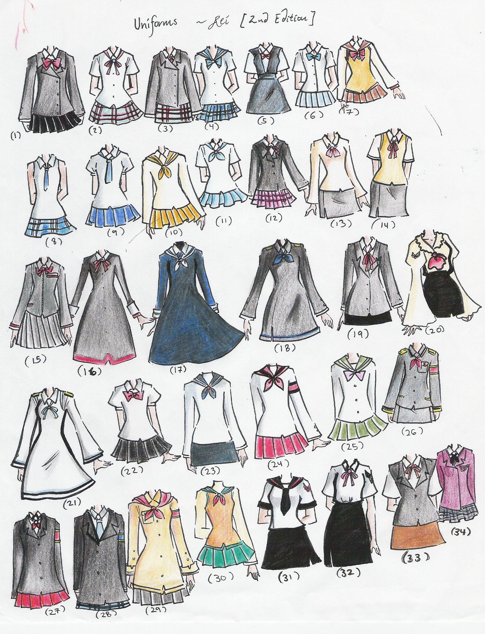 1655x2163 School Uniforms School Uniforms 2nd Edition By Neongenesisevarei