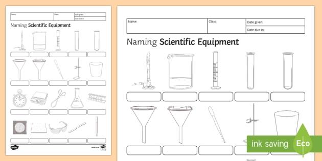 630x315 Naming Scientific Equipment Homework Worksheet Activity Sheet