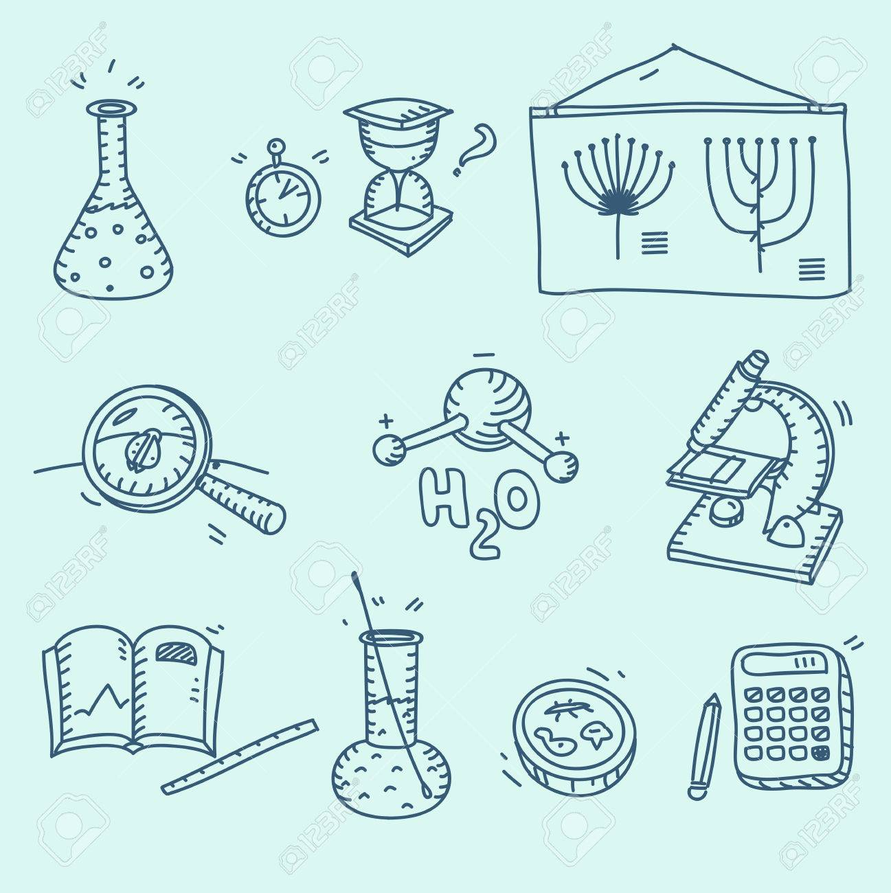 1297x1300 Science Icons Set School Laboratory Chemistry Biology Experiment