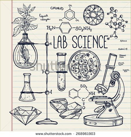 450x470 Hand Drawn Science Lab Icons Sketch Set Beautiful Vintage Vector