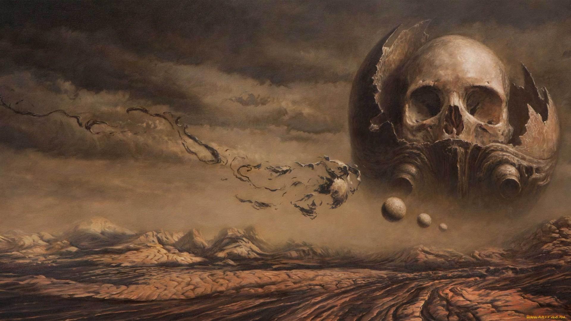 1920x1080 Skull Abstract Drawing Skulls Dark Sci Fi Sci Science Wallpaper