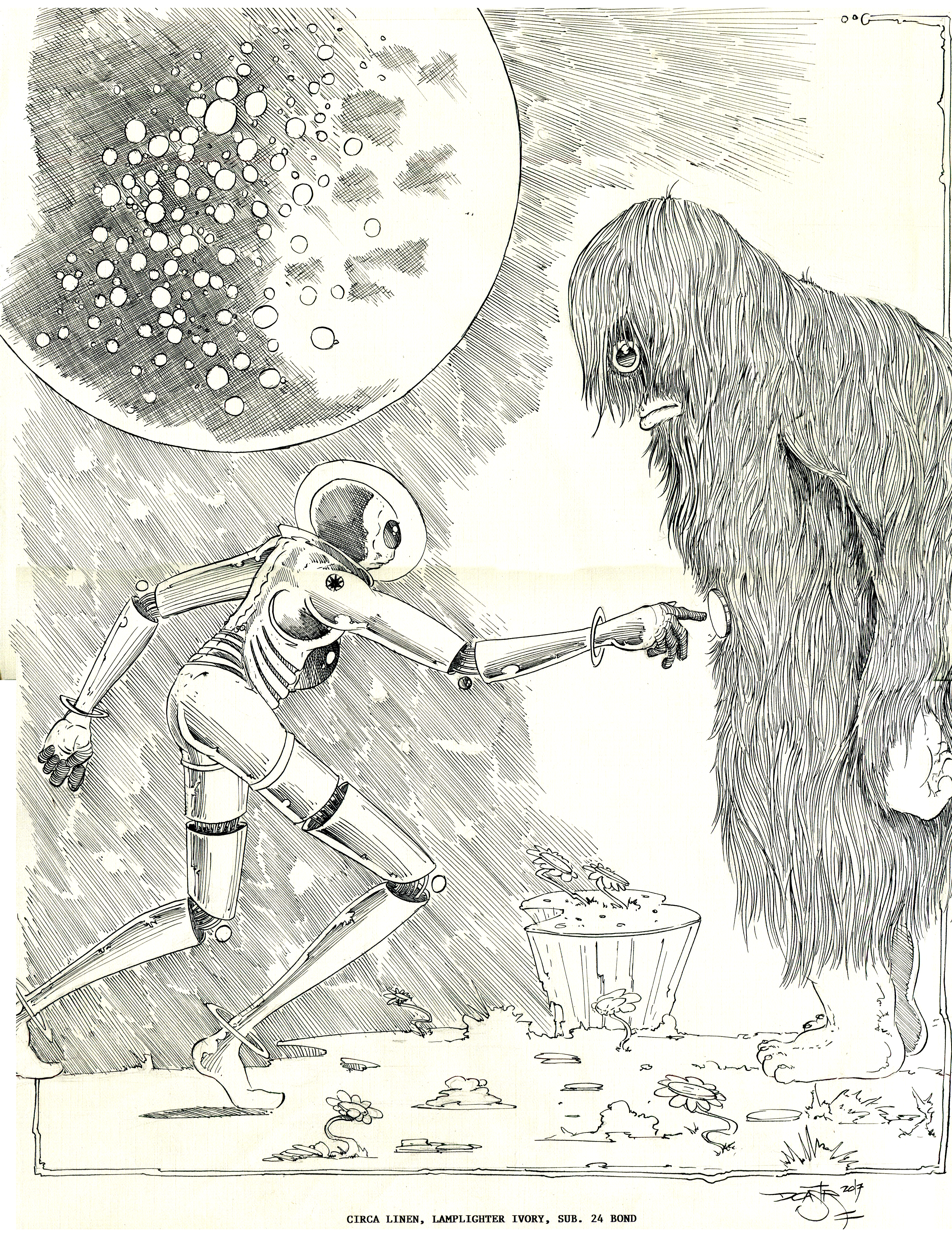 3614x4754 Science Fiction Drawing