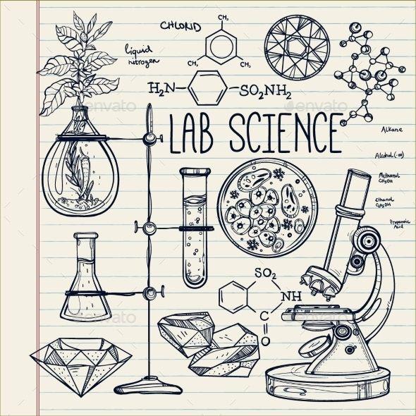 590x590 Hand Drawn Science Lab Icons Sketch Set Hand Drawn, Medicine