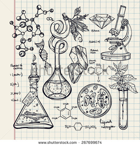 450x470 Hand Drawn Science Beautiful Vintage Lab Icons Sketch Set Vector