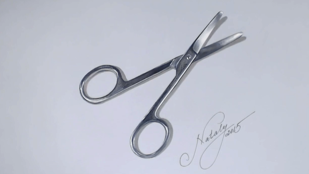 1024x576 Drawing A Surgical Scissors By Natalypavlova