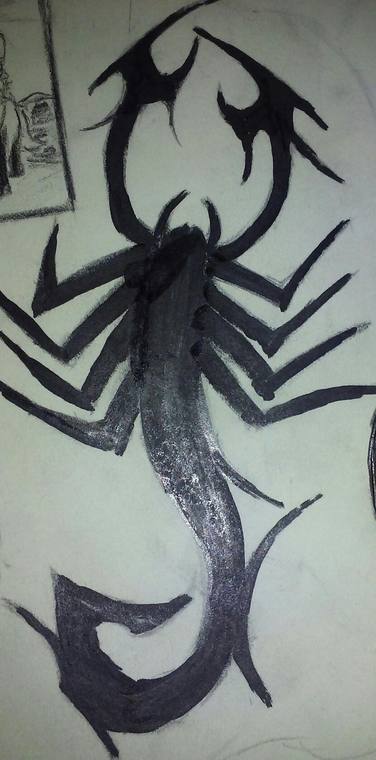 1207x2436 Scorpio Drawing Drawing Scorpio