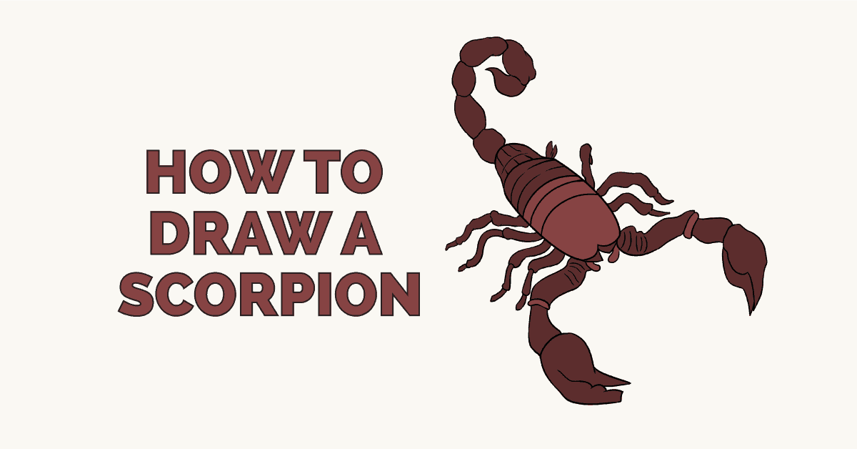 1200x628 How To Draw A Scorpion