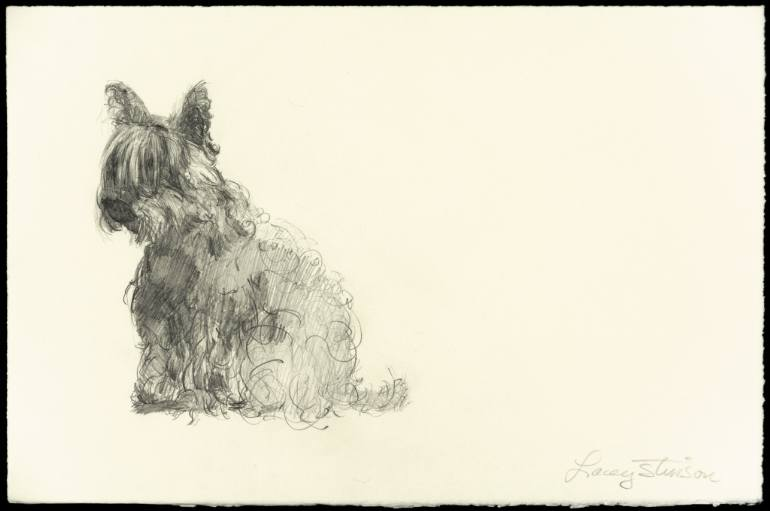 770x511 Saatchi Art Left Facing Scottie Dog Drawing By Lacey Stinson
