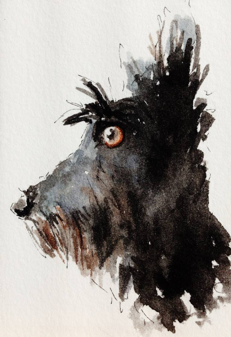 770x1123 Saatchi Art Scottie Dog Painting By Archy Scottie