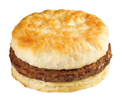 400x334 Sausage Biscuit Sandwich Menu 916 (With Scrambled Eggs