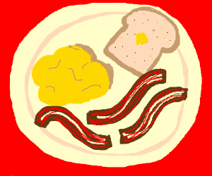 300x250 Scrambled Eggs, Bacon, And Toast