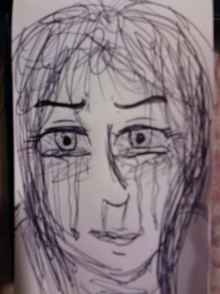 774x1032 Anguish (Scrap Drawing) By Bluerose1275