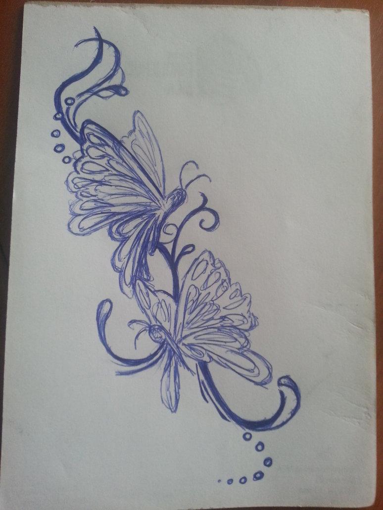 774x1032 Butterflies Scrap Drawing 1 By Snakesz