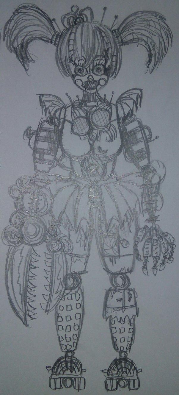 602x1327 Stylized Scrap Baby (Drawing) By 3d Darlin
