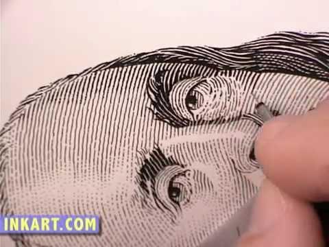 480x360 Scratchboard Drawing Of Benjamin Franklin