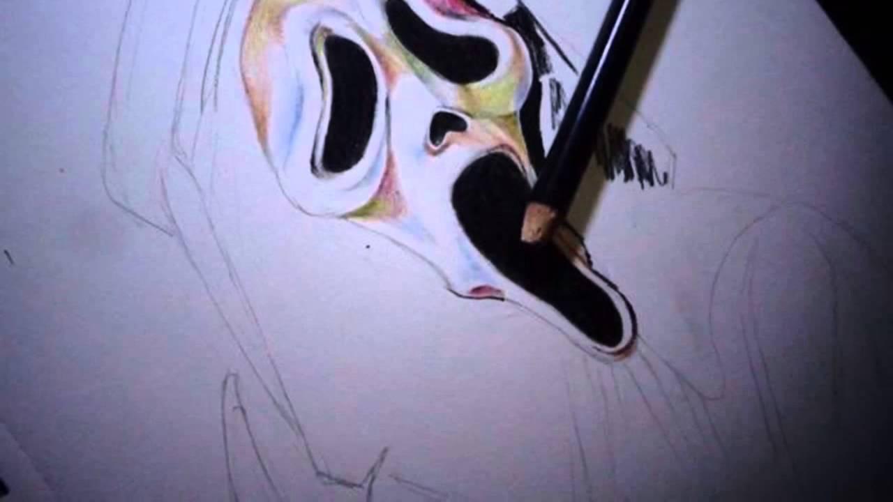 1280x720 Drawing Scream Ghostface