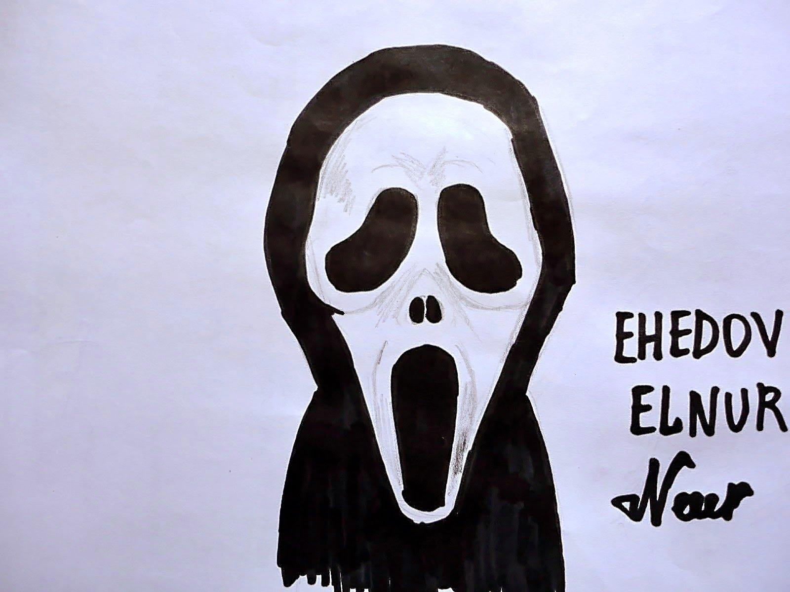 1600x1200 How To Draw Scream Mask (Ehedov Elnur)