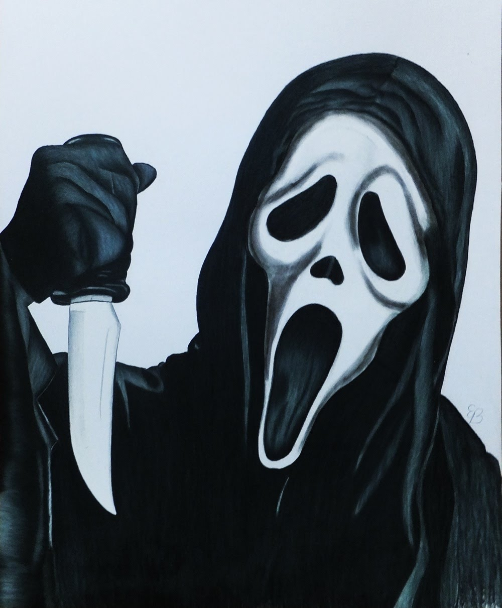 1000x1211 How To Draw Ghostface