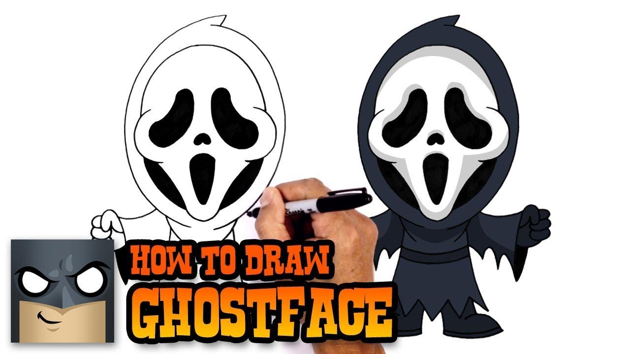 1280x720 How To Draw Ghostface Scream