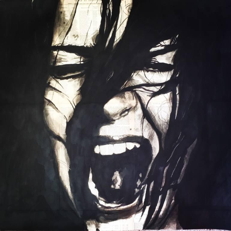 770x770 Saatchi Art Scream Drawing By Tom Sullivan