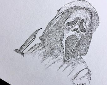 340x270 Scream Drawing Etsy