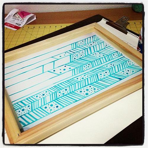 500x500 Screenprinting With Drawing Fluid Manualidades