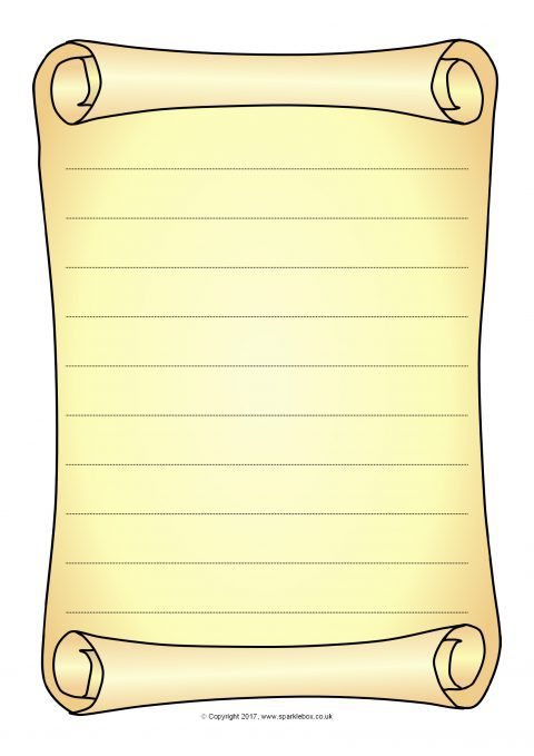 Scroll Drawing Template At Getdrawings Com Free For