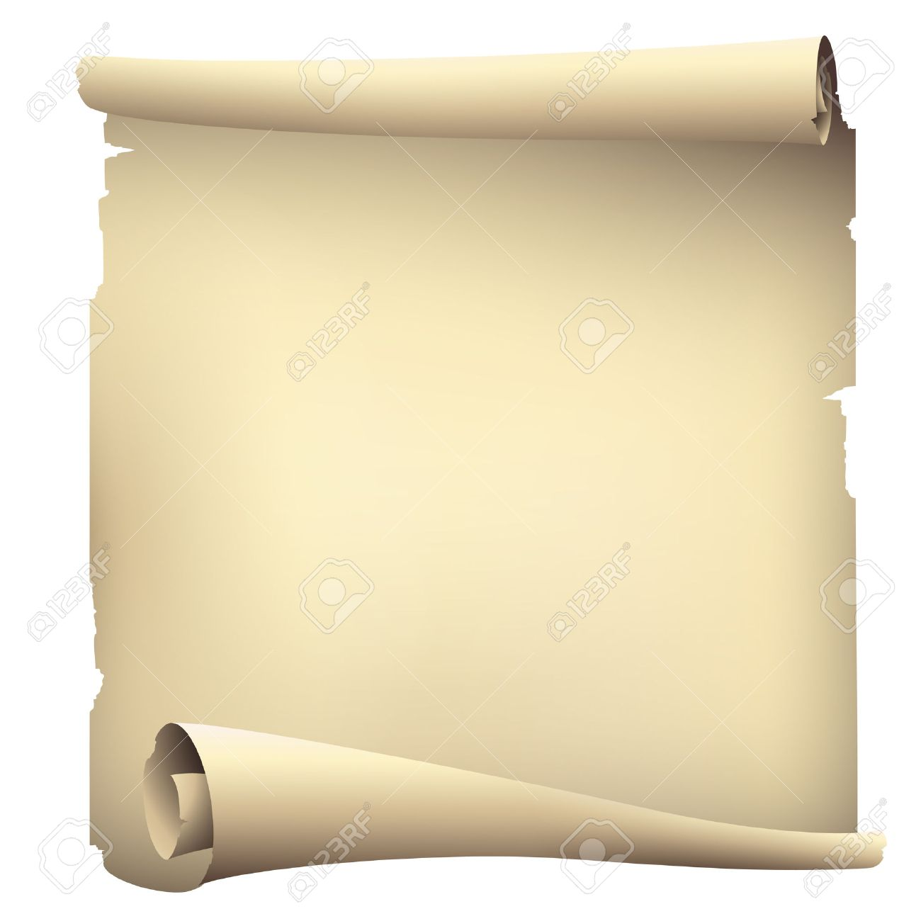 1300x1300 Old Scroll Paper Banners , Vector Drawing Royalty Free Cliparts