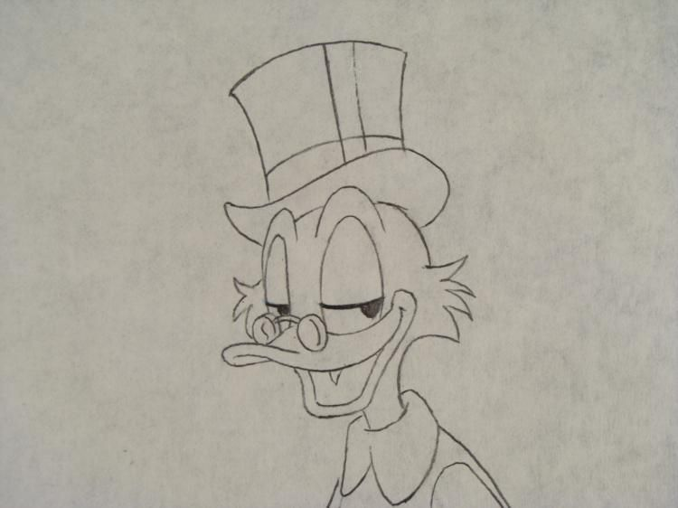 750x562 Donald Amp Scrooge Mcduck Original Production Drawing