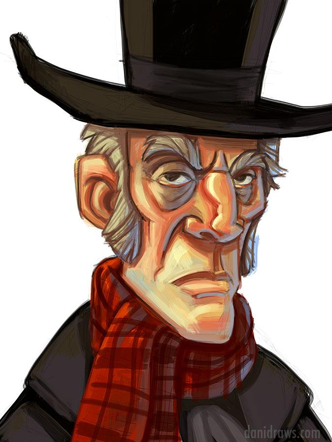 675x900 Scrooge Ipad Painting By Dani Jones