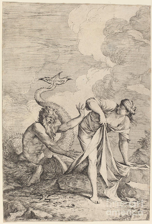 609x900 And Scylla Drawing By Salvator Rosa