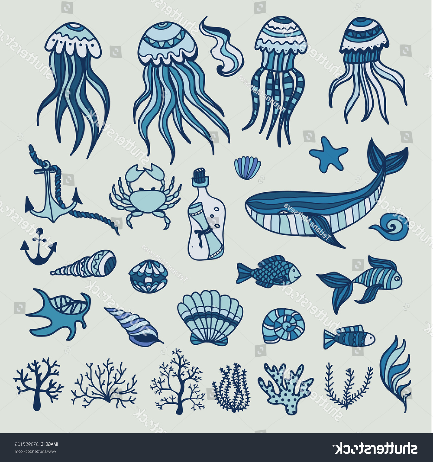 Sea Animals Drawing at GetDrawings | Free download