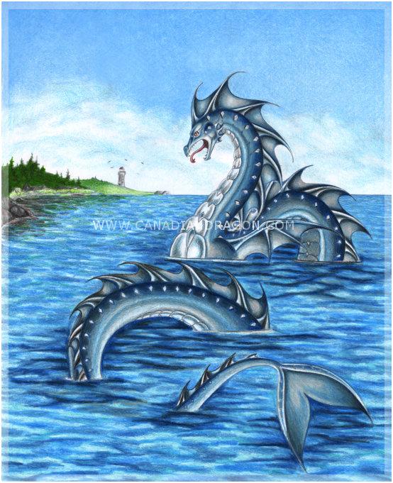 Fantasy Water Serpent Art