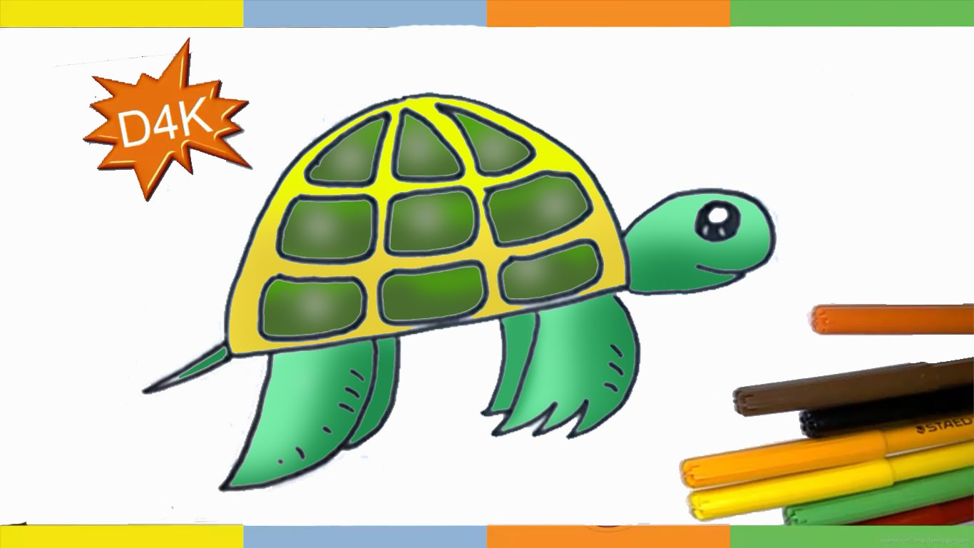 Sea Turtle Drawing For Kids at GetDrawings.com | Free for personal ...