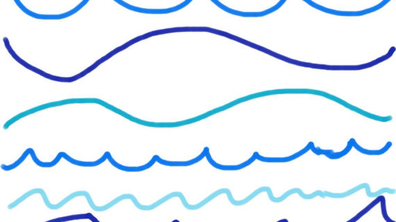 570x320 Ocean Wave Line Drawing Water Wave Drawing