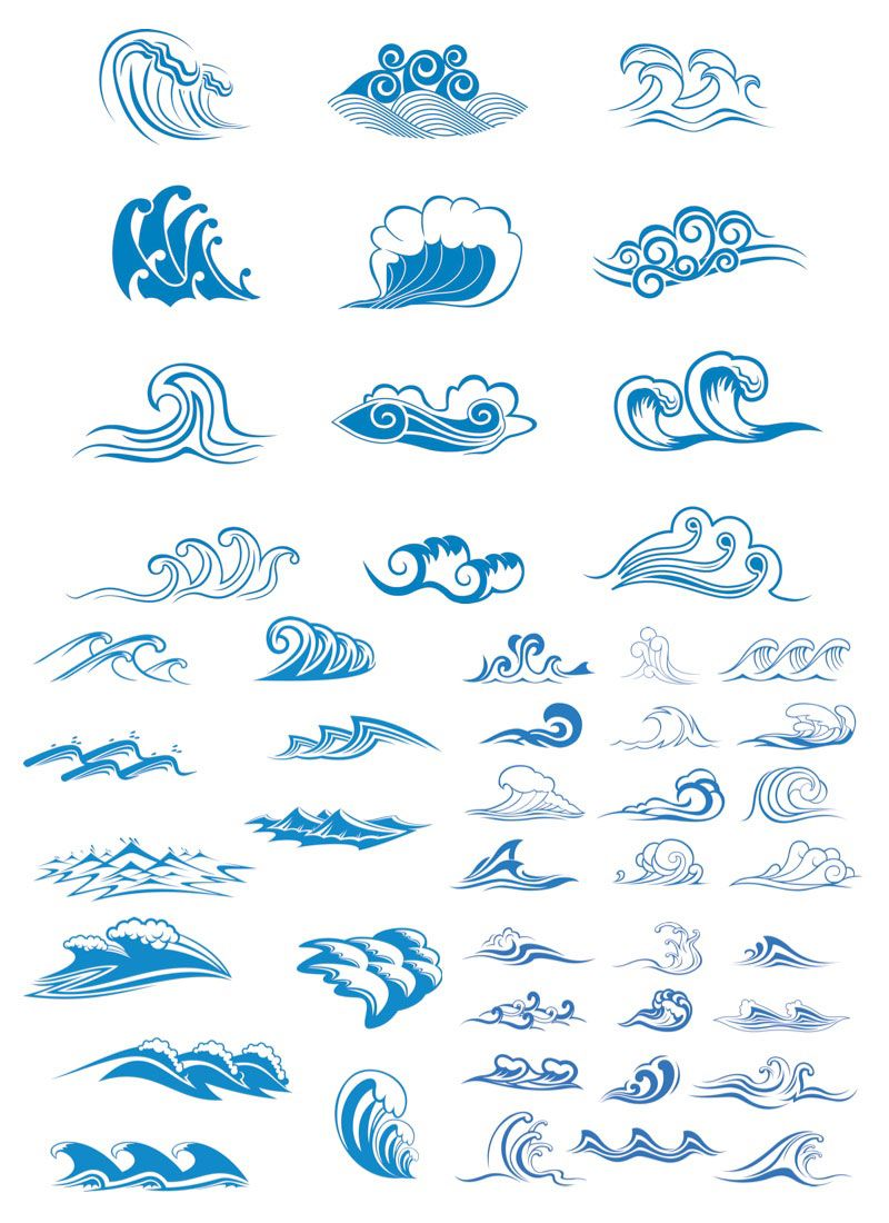 800x1100 Sea Wave Logos Vector Free Stock Vector Art Amp Illustrations, Eps