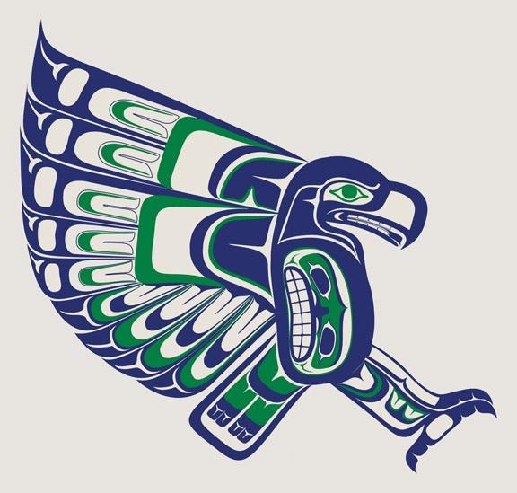 576x549 Local Seattle Artist Creates An Amazing Seahawks Logo, Drawing