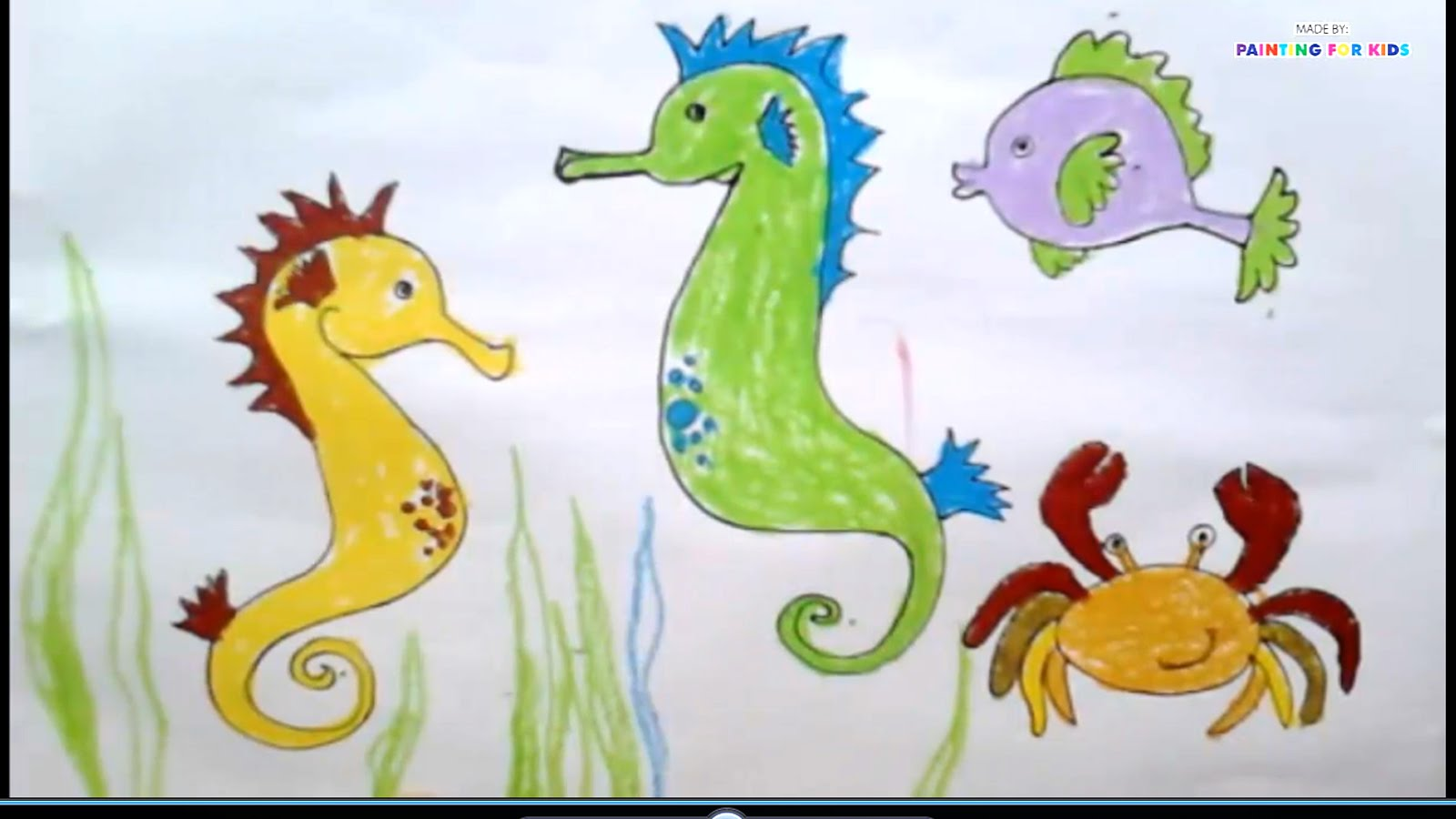 Seahorse Drawing For Kids at GetDrawings.com | Free for personal use ...