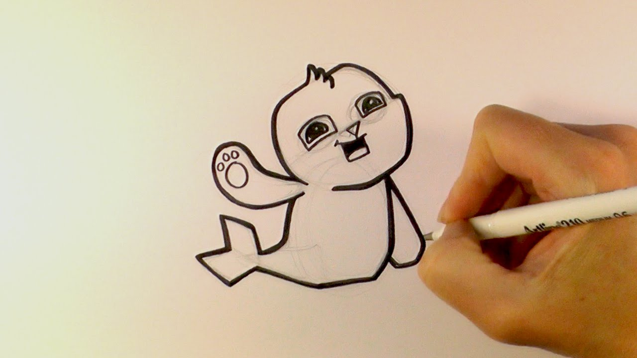 1280x720 How To Draw A Cartoon Seal From Animal Jam