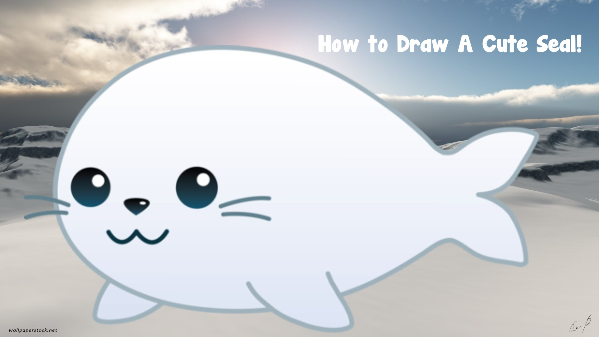 1920x1080 How To Draw A Cute Seal